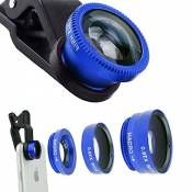 ECVILLA 3 in1 Clip-On 170 Degree Supreme Fisheye + 0.67X Wide Angle+ 10X Macro Lens for iPhone 6 6s 7, Samsung HTC LG Huawei and Other Phone or Tablet