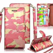 Case Samsung Galaxy S6 Edge Cuir Coque Samsung Galaxy S6 Edge Housse,Vandot Samsung Galaxy S6 Edge Etui de Protection pour Samsung Galaxy S6 Edge Camouflage Style Coque Ultra Mince Portefeuille PU Cuir avec Fonction Support Anti-Choc Anti-Rayures Case Cover