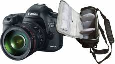 Canon EOS 5D Mark III 22.3 Mpx + Canon EF 24-105mm f/4 L IS USM + sac photo professionnel