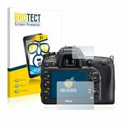 2x BROTECT HD-Clear Film Protection Nikon D7200 Protection Ecran - Transparent, Anti-Trace