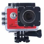Sjcam Original Sj5000X Wifi Waterproof Action Camera with 12MP SONY IMX078 Gyro AV or HDMI Out And OSD Enabled (Red)