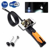 Trofou® Wifi Hd 720p Wireless Endoscope Inspection Camera with 8.5mm Diameter 2.0mp Camera Soft Tube Support Smart Phone/tablet/pc for Snapshoot Video Record (1M)