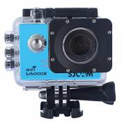 Sjcam Original Sj5000X Wifi Waterproof Action Camera with 12MP SONY IMX078 Gyro AV or HDMI Out And OSD Enabled £¨Blue£©