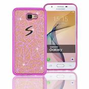 TPU Coque pour Samsung Galaxy J5 Prime Silicone Étui,Vandot Samsung Galaxy J5 Prime Souple Housse de Protection Swag Coque Samsung Galaxy J5 Prime Case Electroplating TPU Cas de Couverture Absorbant Chocs Anti Rayures Housse-Rose