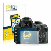2x BROTECT HD-Clear Film Protection Nikon D3100 Protection Ecran - Transparent, Anti-Trace
