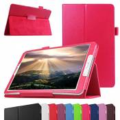 "GALAXY TAB A 7.0 Coque,Mama Mouth Slim Folio PU Cuir debout Fonction Housse Coque Étui Couverture pour 7"" SAMSUNG GALAXY TAB A 7.0 T280 T285 Android Tablet,Magenta"