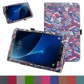 """TAB A 10.1 2016 Coque,Mama Mouth Slim Folio PU Cuir debout Fonction Housse Coque Étui Couverture pour 10.1\"""" SAMSUNG GALAXY TAB A 10.1 T580N T585N Android Tablet 2016,Mushroom Fantasy"""