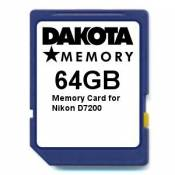 64GB Memory Card for Nikon D7200