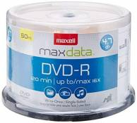 Maxell 638011 DVD-R 4.7GB Write-Once 16x Recordable Disc Spindle 50PK