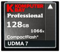 Carte Komputerbay 128 Go Compact Flash Professional 1066X FC écrire 155 Mo / s en lecture 160 Mo / s Extreme Speed UDMA 7 RAW