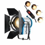 Film ARRI 1000W Eclairage Fresnel Tungsten Lustre Video Studio + Bulb + Barndoor