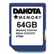 64GB Memory Card for Nikon COOLPIX S7000