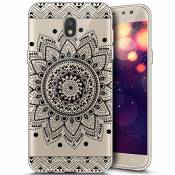 Coque Housse Etui pour Galaxy J7 2017, Galaxy J7 2017 Coque en Silicone Ultra Mince TPU Silicone Crystal Clear Housse Etui Slim Case Soft Gel Cover Sk