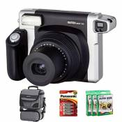 Bundle Fujfilm Instax 300 Wide Instant Camera +100-Shot Fuji Wide Film + Smart Carry Case + Panasonic Gold Batteries