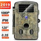 "Crenova Caméra de Chasse 12 MP 1080P HD Grand Angle 120° 20m Vision Nocturne Infrarouge Waterproof 2.4"" Affichage LCD avec 42 LEDs IR Basse Luminosité"