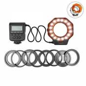 Macro LED Ring, D & F 32 Photo Vidéo Lighting Bundle close-up photography for Canon, Nikon, Olympus, Pentax SLR Cameras (Will Fit 40.5, 52, 55, 58, 62