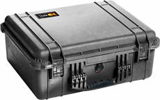 PELI 1550 Protective Shockproof Case for Video and Audio Equipment, IP67 Watertight and Dustproof, 61L Capacity, Made in Germany, No Foam, B33L