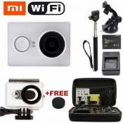 Xiaomi Yi Wifi 1080P Action Sports Caméra Cam Video Waterproof Camera Diving Surfing Car Recorder DVR + Monopod + Bag