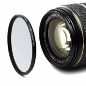 Cellonic Filtre UV pour Olympus Zuiko Digital 14-42mm 40-150mm 75-300mm ED 14-150mm ED 70-300mm (Ø 58mm) Filtre Protection