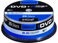 Intenso 1x25 DVD+R 8,5GB 8x Double Layer spindle