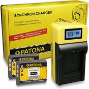 LCD Chargeur + 2x Batterie NP-BY1 pour Sony Action-Cam HDR-AZ1 | HDR-AZ1VR