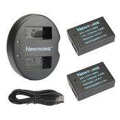 Newmowa Double USB Chargeur + 2 Batteries LP-E17 pour Canon LP-E17 et Canon EOS M3 M6 750D 760D Rebel T6i T6s 8000D Kiss X8i(Half-decoded)