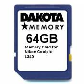 64GB Memory Card for Nikon Coolpix L340