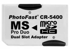 Adaptador Micro SD a Memory Stick PRO Duo doble