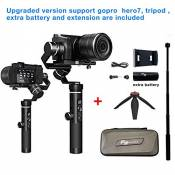 Feiyu G6 plus Upgraded version Gimbal Handheld Stabilizer for GoPro HERO 7/6/5/Smartphone,800g playload,Wifi build and splashwater proof + (1 batterie