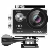 AKASO EK5000 WIFI Sports Action Camera Full HD 1080P 12MP Waterproof Action Camcorder 2 inch LCD Screen 170° Wide Angle Lens Helmet Cam + Bonus Batter
