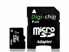 Digi-Chip 64 GO CLASS 10 UHS-1 MICRO-SD CARTE MÉMOIRE POUR SAMSUNG GALAXY S4, S IV, Mini, Zoom, GALAXY J, Win Pro G3812, S Duos 2 S7582, Grand 2, I923