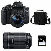 CANON EOS 750D + 18-55 IS STM + 55-250 IS STM + Sac + SD 4Go