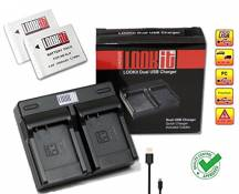 LOOKit y compris: Duall Chargeur + 2x LOOKit NB-6LH pour Canon SX710, Canon SX530, Canon SX610, Canon SX520 HS, Canon SX600 HS, Canon S200, Canon SX700, Canon PowerShot D30, Canon SX510 HS, Canon S120, Canon PowerShot SX170 IS