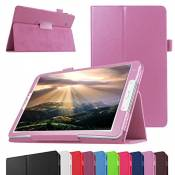 """GALAXY TAB A 7.0 Coque,Mama Mouth Slim Folio PU Cuir debout Fonction Housse Coque Étui Couverture pour 7\"""" SAMSUNG GALAXY TAB A 7.0 T280 T285 Android Tablet,Rose"""