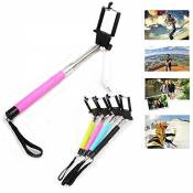 Yaobai-2015 Wire Controlled Battery Free Handheld Self Portrait Monopod with Rear View Mirror for Back Camera Photograph Selfie Stick for iPhones & Android Smart Phones,IOS Iphone 6 plus/ iPhone 6/5S/5/5C and Cubot Doogee Android 3G Smartphone,Samsung Galaxy A7 A3 A5,G357,G355,G360,Note 3 ,Note 4,S5,S6,S6 Edge, LG G2 G3,SonyXperia Z2 Z3 Z4 M2, HTC One M8 M9,ect