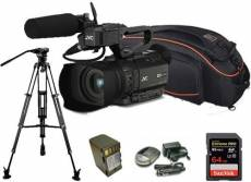 Kit Camcorder GY-HM200 JVC 4K Ready CMOS 1/2 - WIFI Ottica 12x stabilizzata HDMI output 4K Ultra HD + 1 Battery + 1 Battery charger + 1 Memory Card Sa