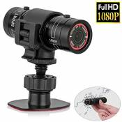 Mengshen Full HD 1080P Mini Sports DV Caméra Bike Casque de moto Action DVR Vidéo Cam Perfect pour Sports de plein air MS-F9