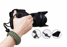 Prowithlin Dragonne appareil Photo, Braided Sangle de poignet pour photo DSLR SLR (Vert)