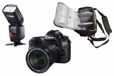 Canon EOS 6D 20.2 Mpx + Canon EF 24-105mm f/3.5-5.6 IS STM + sac photo professionnel + speedlite flash