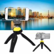 PULUZ Pocket Mini Tripod Mount with 360 Degree Ball Head for Smartphones, GoPro, DSLR Cameras(Yellow)