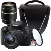 CANON EOS 700D + 18-55 IS STM + TAMRON 18-200mm + Sacoche + Carte 8 Go + Filtre UV OFFERT !
