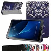 "TAB A 10.1 2016 Ultra Slim Coque,Mama Mouth Ultra Slim PU Cuir debout Fonction Housse Coque Étui Couverture pour 10.1"" SAMSUNG GALAXY TAB A 10.1 T580N T585N Android Tablet 2016,Rattan Flower"