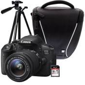 CANON EOS 700D + 18-55 IS STM + Trépied + Sacoche + Carte 8 Go