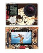 Royal Sticker RS.99985 Autocollant pour GoPro Hero 4 Silver avec Motif Gun Guitar And Roses Skull