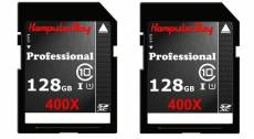 Komputerbay 2 PACK - 128 Go SDXC Secure Digital Extended Capacity Speed Class 10 UHS-I 400X Ultra Carte 45MB / s haute vitesse Mémoire Flash 60 Mo Ecr