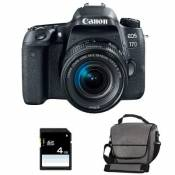 CANON eos 77d + 18-55 is stm + sac + sd 4go