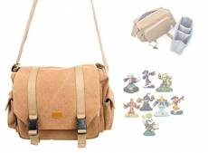 "DURAGADGET Sacoche en toile ""vintage"" pour vos figurines de Jeu Skylander SWAP Force, Trap Team, Skylander Giants et Superchargers- compartiments ajus"