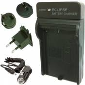 Eclipse SONY NP-FD1 / NP-BD1 Chargeur de Batterie avec EURO UK US Voyage Plugs (Charge Rapide)