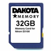 32GB Memory Card for Nikon D3100