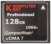 Carte Komputerbay 128 Go Compact Flash Professional 1066X FC écrire 155 Mo/s en lecture 160 Mo/s Extreme Speed ​​UDMA 7 RAW